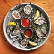 Raw Oyster Platter Art Print