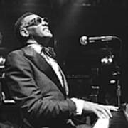 Ray Charles Performing Art Print