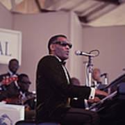 Ray Charles Performs At Newport Art Print