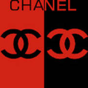 Red And Black Chanel Art Print