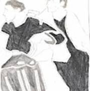 Red Detachment Of Women D1 Art Print