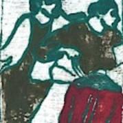 Red Detachment Of Women Painting Art Print