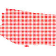 Red Dot Map Of Arizona Art Print