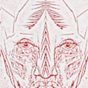 Red Face Art Print