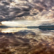 Red Rock Lake Sunrise Art Print