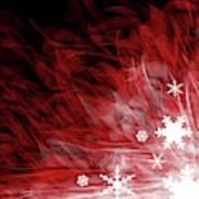 Red Snowflake Art Print