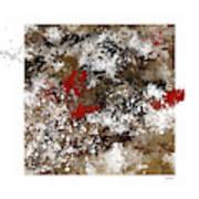 Red Splashes Art Print
