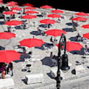 Red Umbrellas 2 Art Print