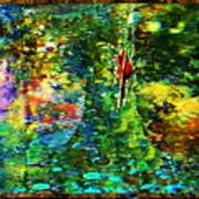 Redbird Singing Songs Of Love In The Tree Of Hope Art Print