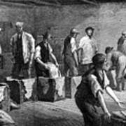 Refilling Chests In A Tea Warehouse Art Print