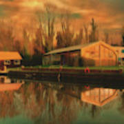 Reflections On The Wey Art Print