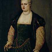 Retrato De Mujer   Art Print