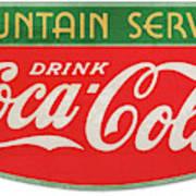 Retro Coke Sign Art Print