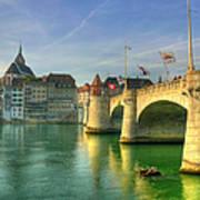 Rhine Bridge In Basel Art Print