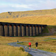Ribblehead Viaduct In Late Autumn North Yorkshire Art Print