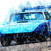 Richard Petty Superbird Art Print