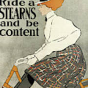 Ride A Stearns And Be Content, Circa 1896 Art Print