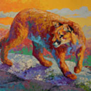 Ridge Cougar Art Print