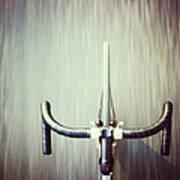 Riding  Bicycle Art Print