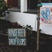 Rinse Feet And Drop Flops Art Print