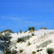 Rippled Sand Dunes In White Sands National Monument, New Mexico - Newm500 00106 Art Print