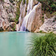 River Neda Waterfalls Art Print