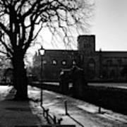 riverside walk in Haddington on winters morning Art Print