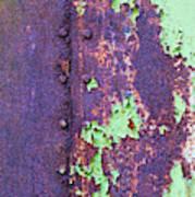 Rivets Rust And Paint Art Print
