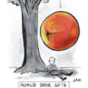 Roald Dahl Gets A Book Idea Art Print