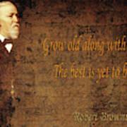 Robert Browning 1 Art Print