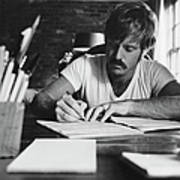 Robert Redford Writing At Desk Art Print