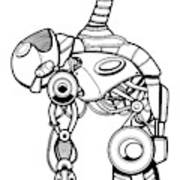 Robot Charging Art Print