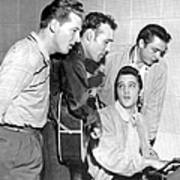 Rock And Roll Musicians Jerry Lee Art Print