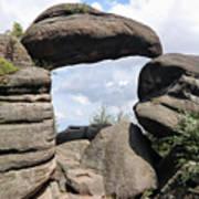 Rock Gate In The Nature Reserve Broumov Walls Art Print