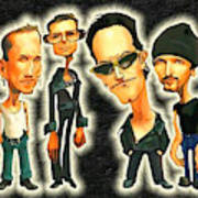Rock N' Roll Warriors - U2 Art Print