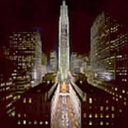 Rockefeller Center, Manhatten, At Art Print