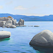 Rocky Cove On Lake Tahoe Art Print