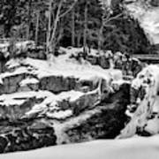 Rocky Gorge Foot Bridge N H Art Print