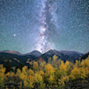 Rocky Mountain Autumn Stars Art Print