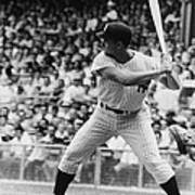 Roger Maris At Bat At Yankee Stadium Art Print