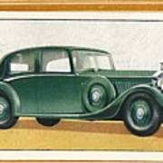 Rolls-royce 20-25 Saloon, C1936 Art Print
