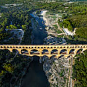 Roman Aqueduct, Pont Du Gard Art Print