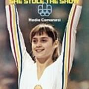 Romania Nadia Comaneci, 1976 Summer Olympics Sports Illustrated Cover Art Print