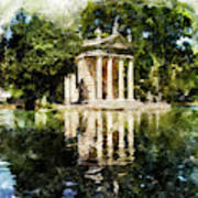 Rome, Ancient Temple Of Aesculapius - 04 Art Print