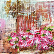 Rose Bundle With Copper Pot Art Print