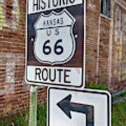 Route 66 - Kansas #1 Art Print