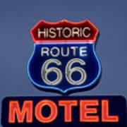 Route 66 Motel Art Print
