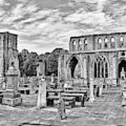 Ruins Of A Cathedral, Elgin Cathedral Art Print