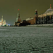 Russia, Moscow, Red Square And Kremlin Art Print