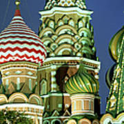 Russia, Moscow, Red Square, St Basils Art Print